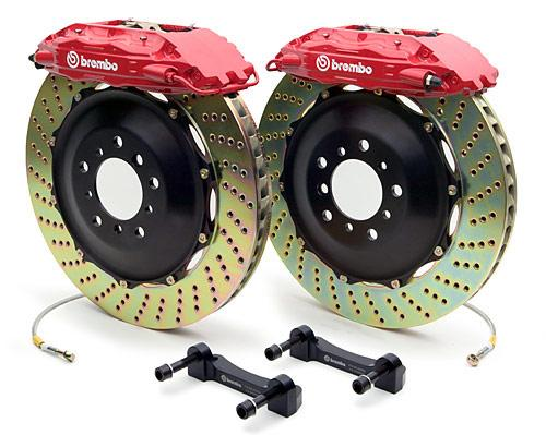 Brembo Gran Turismo - Red Caliper & Cross-Drilled Rotor