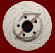 Carbon Z Diamond Slotted Brake Rotors