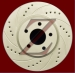 Carbon Z Cross-Drilled & Slotted Brake Rotors