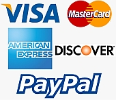 Credit Cards & PayPal Accepted