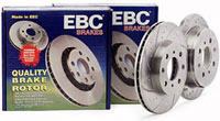 EBC Sport-Grooved Brake Rotors - Dimpled & Slotted Performance Rotors