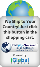 International shipping available. Look for this button in the shopping cart! Click to learn more.