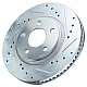 Power Stop Cross-Drilled & Slotted Brake Rotors