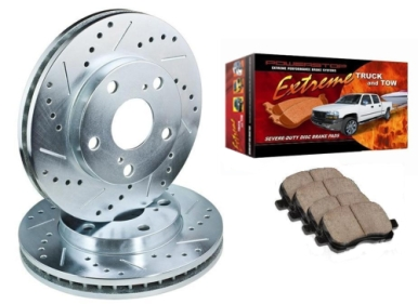 Power Stop Brake Kit with Heavy Duty Truck & Tow Pads