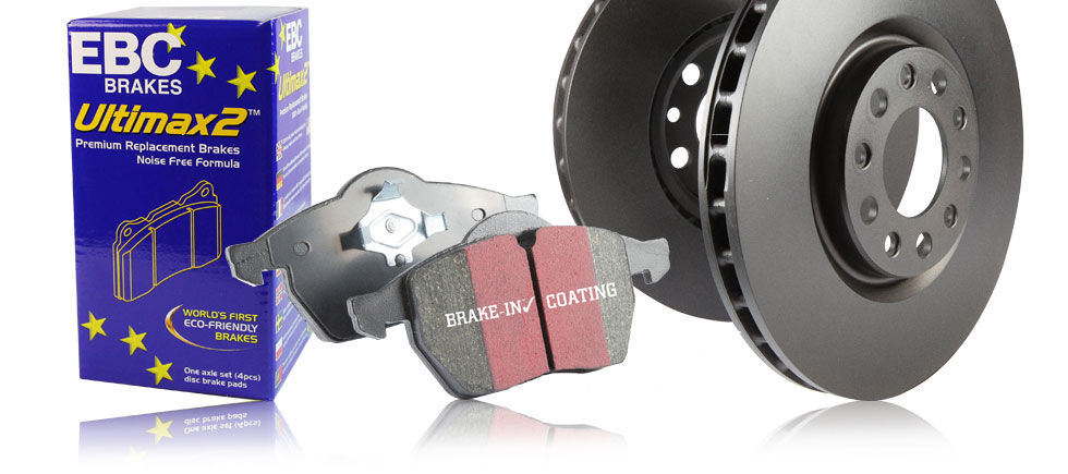 S1 Kits Ultimax 2 Brake Pads and Black RK Premium Rotors