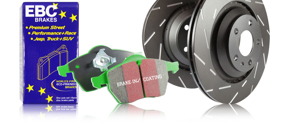 S4 Kits Greenstuff 7000 Brake Pads and USR rotors
