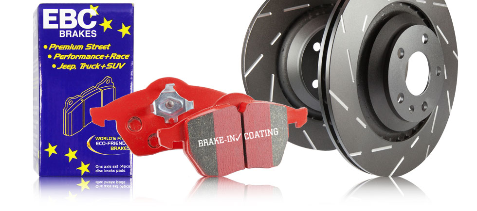 S4 Kits Redstuff Ceramic Sport Brake Pads and Black USR rotors