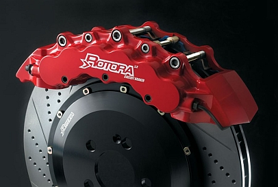Rotora Powder Coated Caliper and Drilled & Slotted Performance Rotor