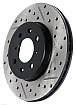 StopTech Cross-Drilled & Slotted Rotor