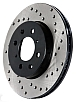 StopTech Cross-Drilled Rotor