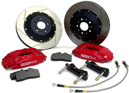 Stop Tech Big Brake Kit - Red Calipers & Slotted AeroRotors